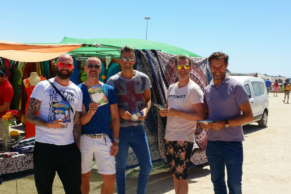 Two gay men Gertjan Holleman and Johan Verveer #pillowtalk move to #Ibiza Spain job search  #opening #party #Haco #meubles