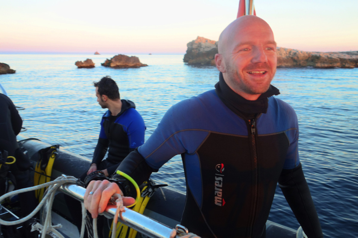 #scuba #diver diving #Ibiza #gay couple #Johan Verveer and #Gertjan Holleman moved to #Spain to start a new life