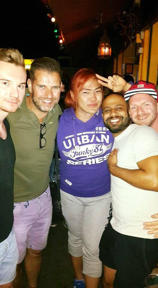 Chiangmai #ourbigmove holiday gay couple Johan and Gertjan North Thailand nightlife Spicy Zoe in Yellow #spicynightclub #zoeinyellow