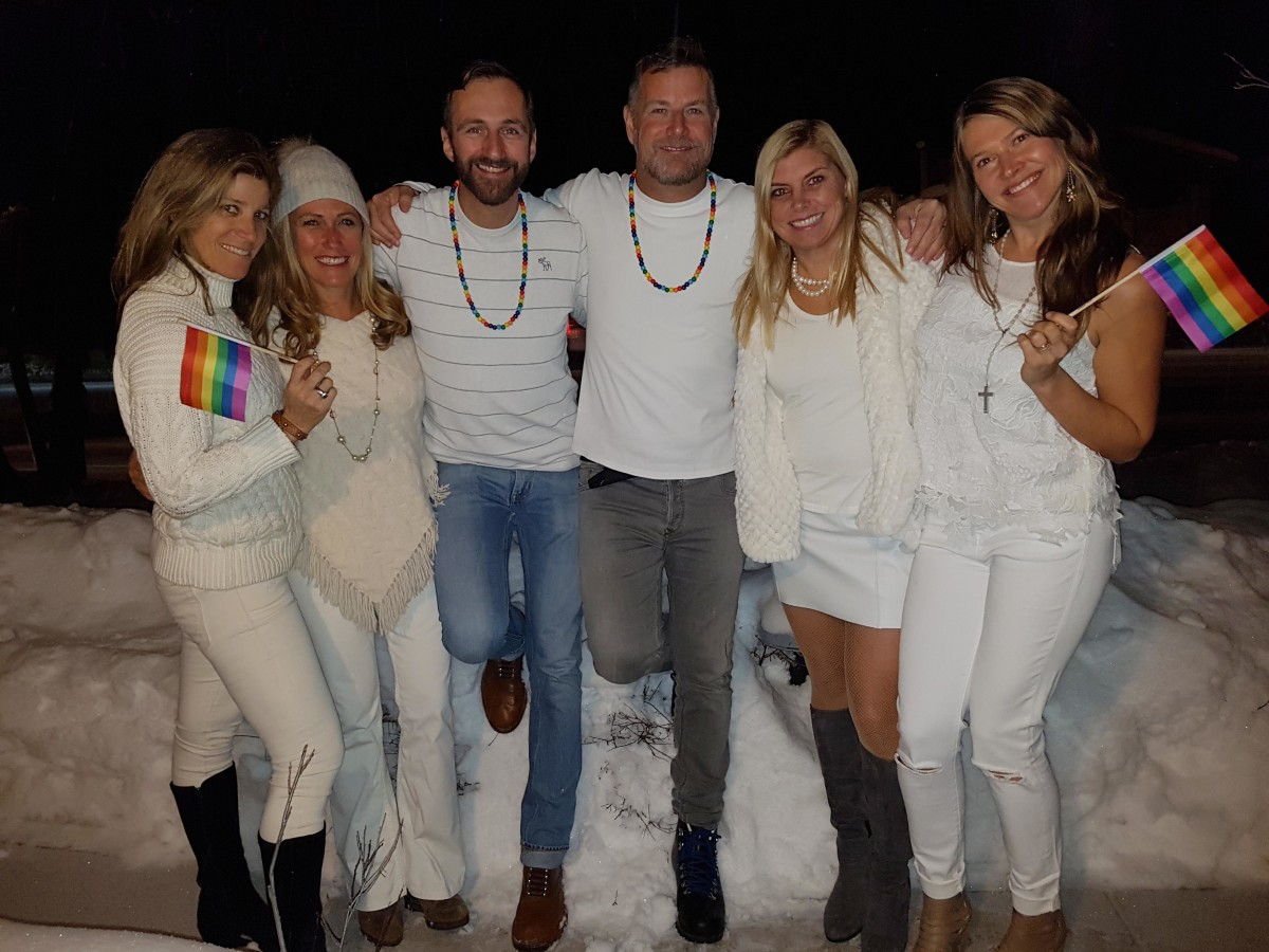 Aspen gay ski week Limelight wedding Gertjan Johan white party DJ reunion Buddymoon our big move #ourbigmove