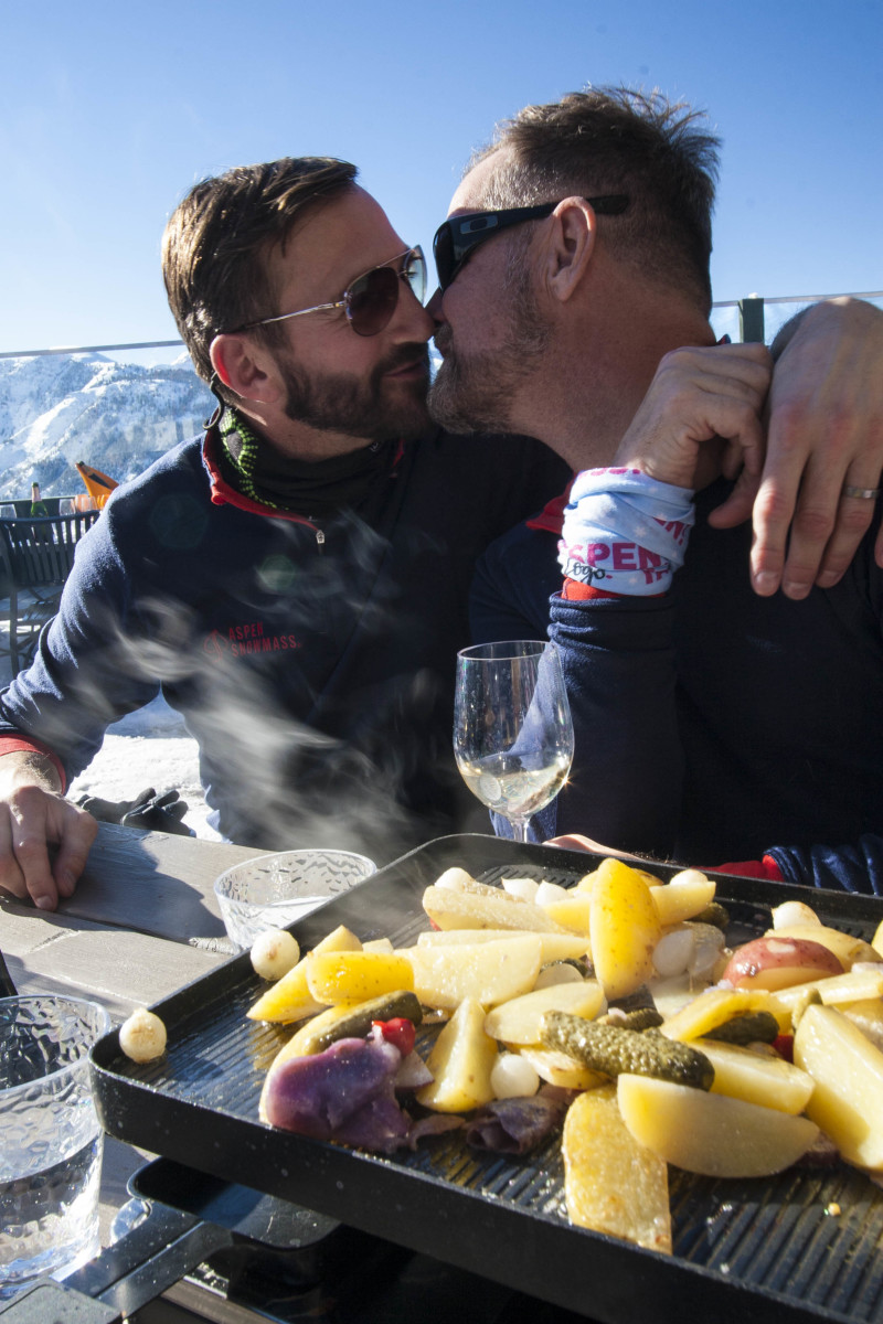 Aspen gay ski week Limelight wedding Gertjan Johan white party skiing snow our big move #ourbigmove