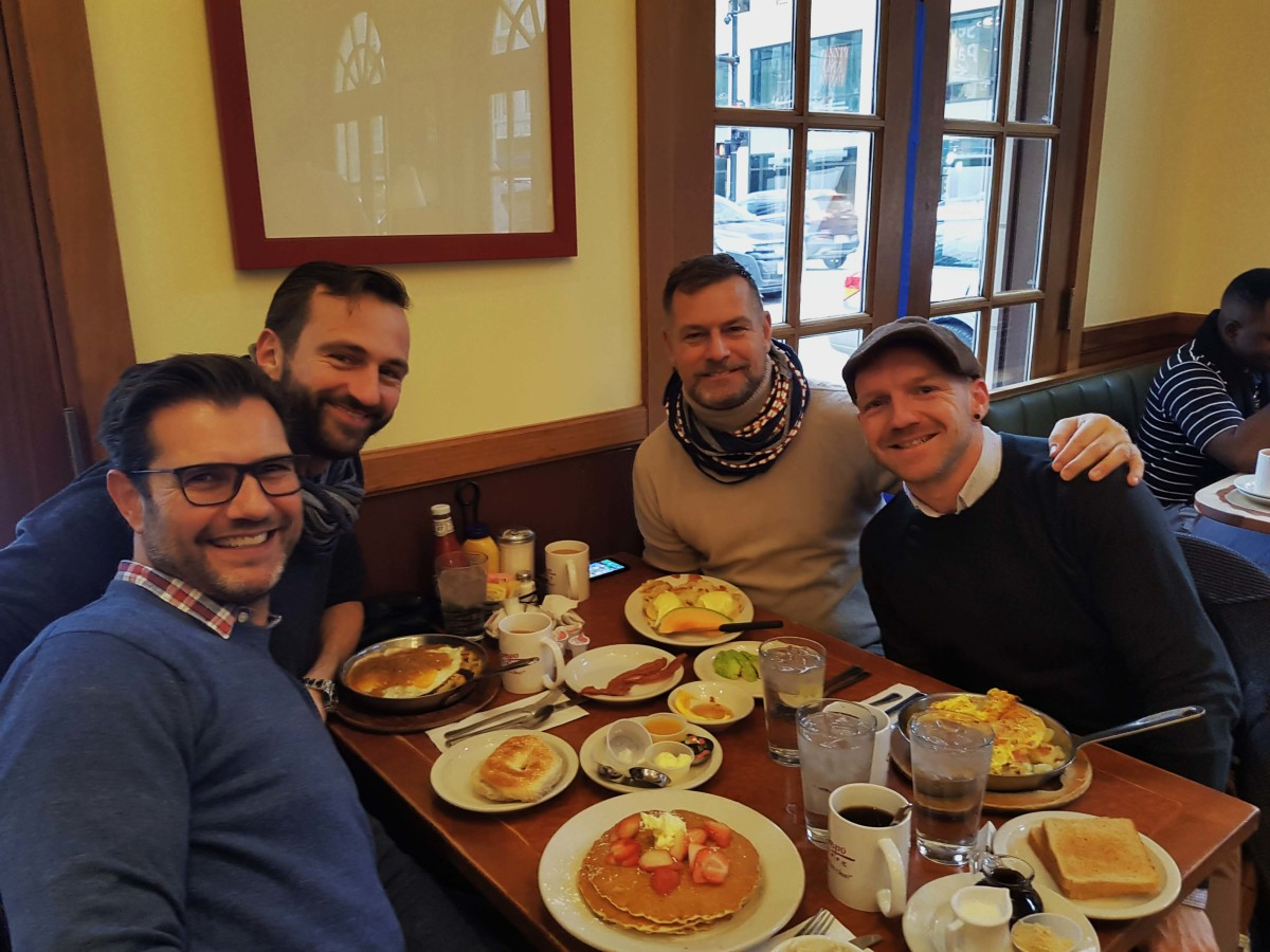 Chicago gay holiday roadtrip Trump Tempo Cafe couple Gertjan Johan our big move ourbigmove